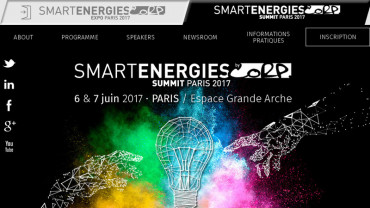 Page d'accueil du site : Smart Energie Summit