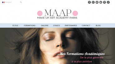 Page d'accueil du site : Make up Art Academy Paris