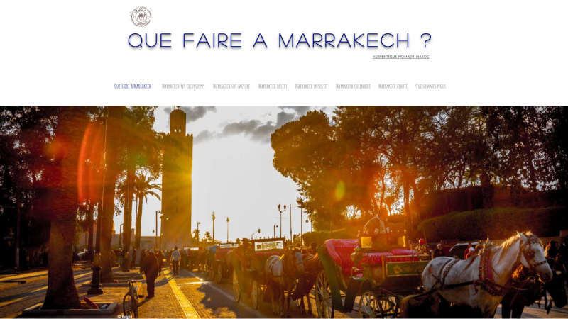 Que faire à Marrakech ?