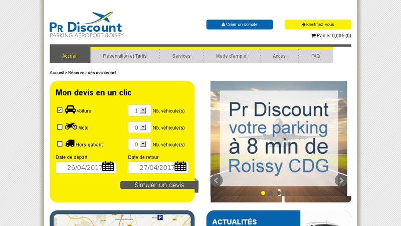 Parking Roissy Discount
