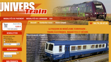 Page d'accueil du site : Univers Train