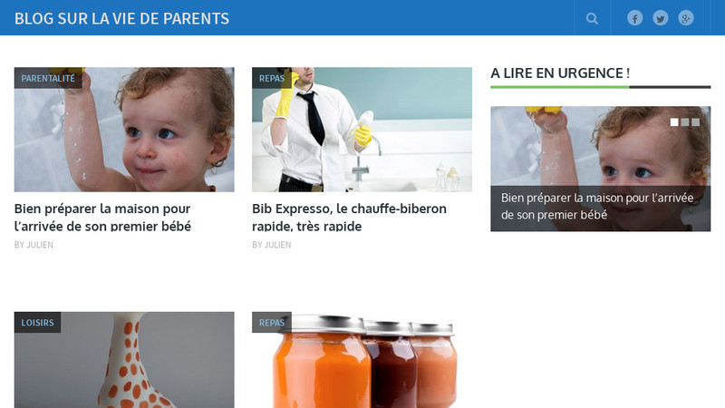 Blog sur la vie de parents
