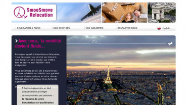 Page d'accueil du site : SmoosMove Relocation