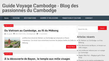 Page d'accueil du site : Guide Voyage Cambodge