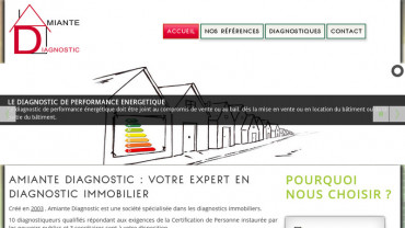 Page d'accueil du site : Amiante Diagnostic