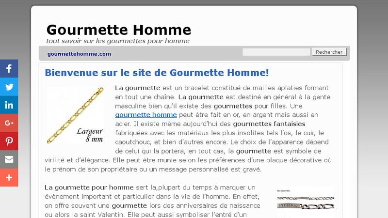 Gourmette Homme