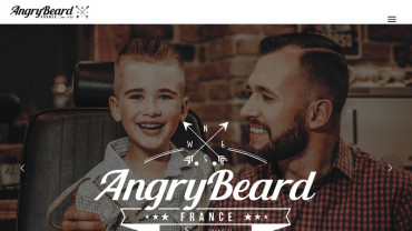 Page d'accueil du site : Angry Beard