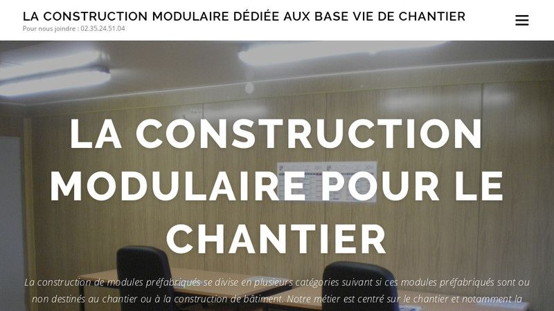 Construction modulaire chantier