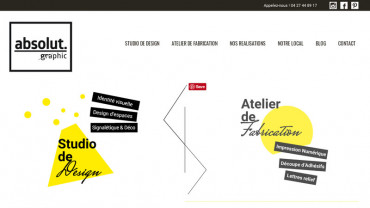 Page d'accueil du site : Absolut Graphic