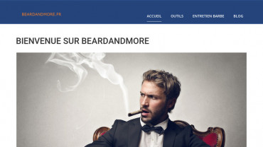 Page d'accueil du site : Beard and more