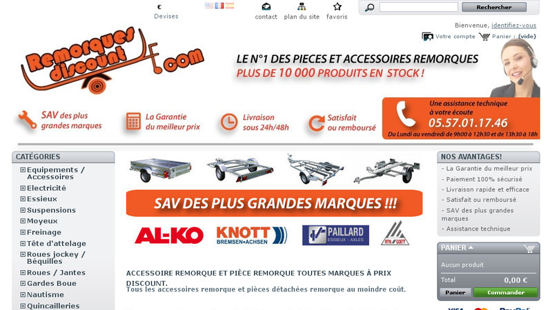 Remorques discount