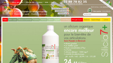 Page d'accueil du site : Phyto-one