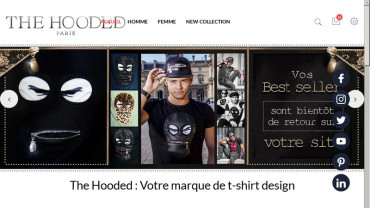 Page d'accueil du site : The Hooded
