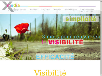 Page d'accueil du site : XMEDIACREATION