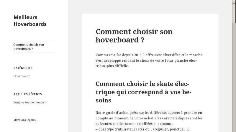 Meilleurs Hoverboards