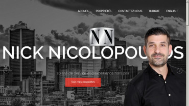 Page d'accueil du site : Nick Nicolopoulos