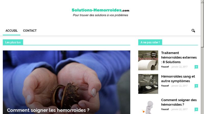 Solutions Hémorroïdes