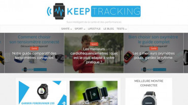 Page d'accueil du site : Keep Tracking