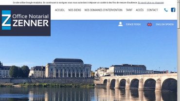 Page d'accueil du site : Office Notarial Zenner
