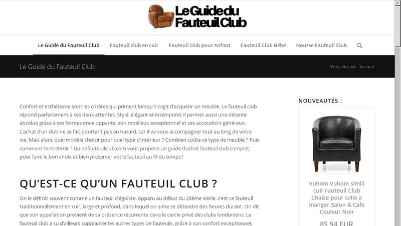 Guide Fauteuil Club