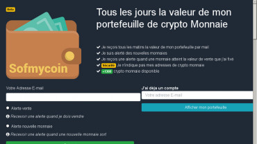 Page d'accueil du site : Sum Of My Coin