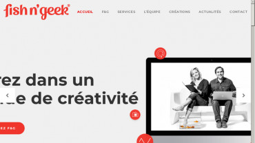 Page d'accueil du site : Fish and Geek