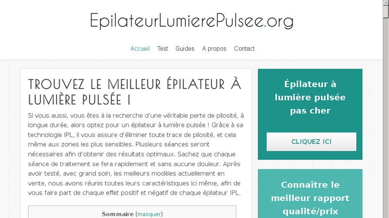 Epilateur lumiere pulsee