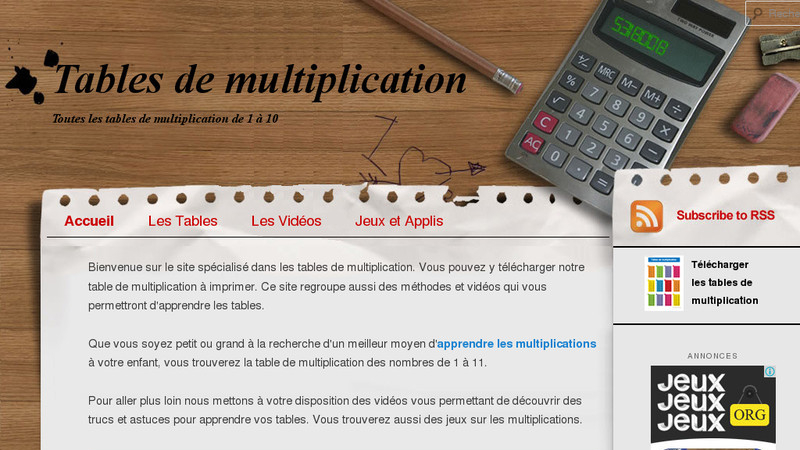 La table de multiplication