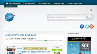 Page d'accueil du site : Club reduction