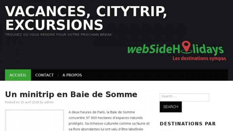 Les destinations sympas