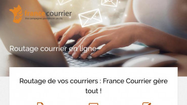 Page d'accueil du site : France Courrier