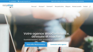 Page d'accueil du site : Easy Shop