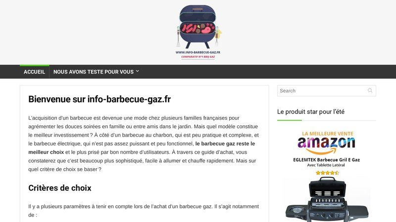 Info Barbecue Gaz