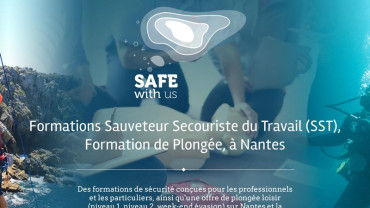 Page d'accueil du site : Safe With Us