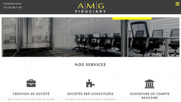 Page d'accueil du site : AMG Fiduciary