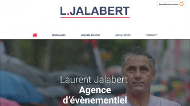 Page d'accueil du site : Laurent Jalabert