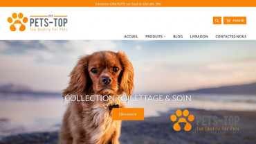 Page d'accueil du site : One Pets Top