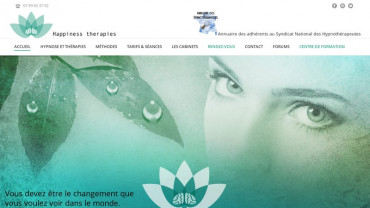 Page d'accueil du site : Happiness Therapies