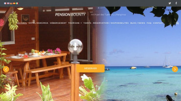 Page d'accueil du site : Pension Bounty