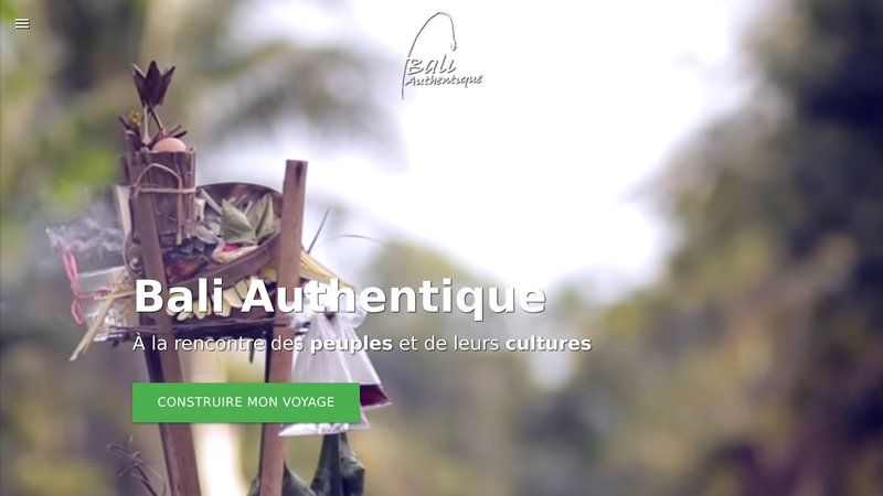 Bali Authentique