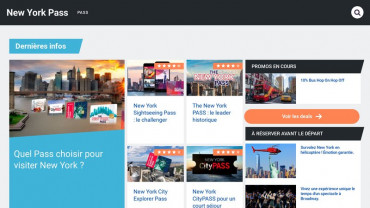 Page d'accueil du site : New York Pass