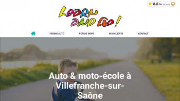 Page d'accueil du site : Learn And Go
