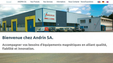 Page d'accueil du site : Andrin Magnets