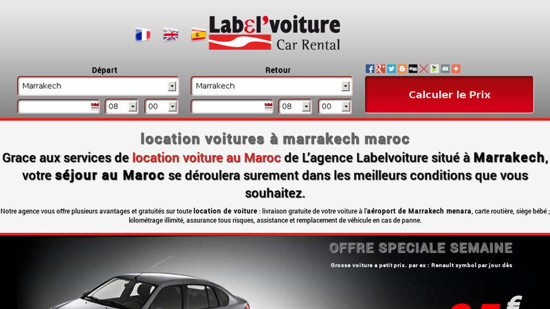 Label voiture