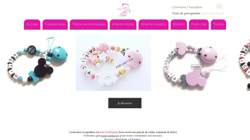 Attache tétine Kids and Crea