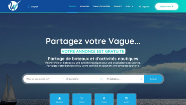 Page d'accueil du site : WakeSharing