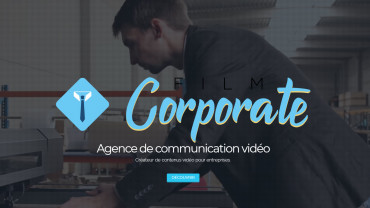 Page d'accueil du site : Film Corporate