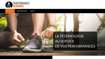 Page d'accueil du site : Performance Running