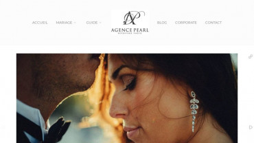 Page d'accueil du site : Agence Pearl