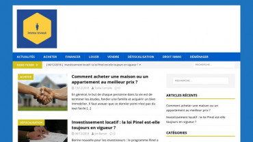 Page d'accueil du site : Immo Invest
